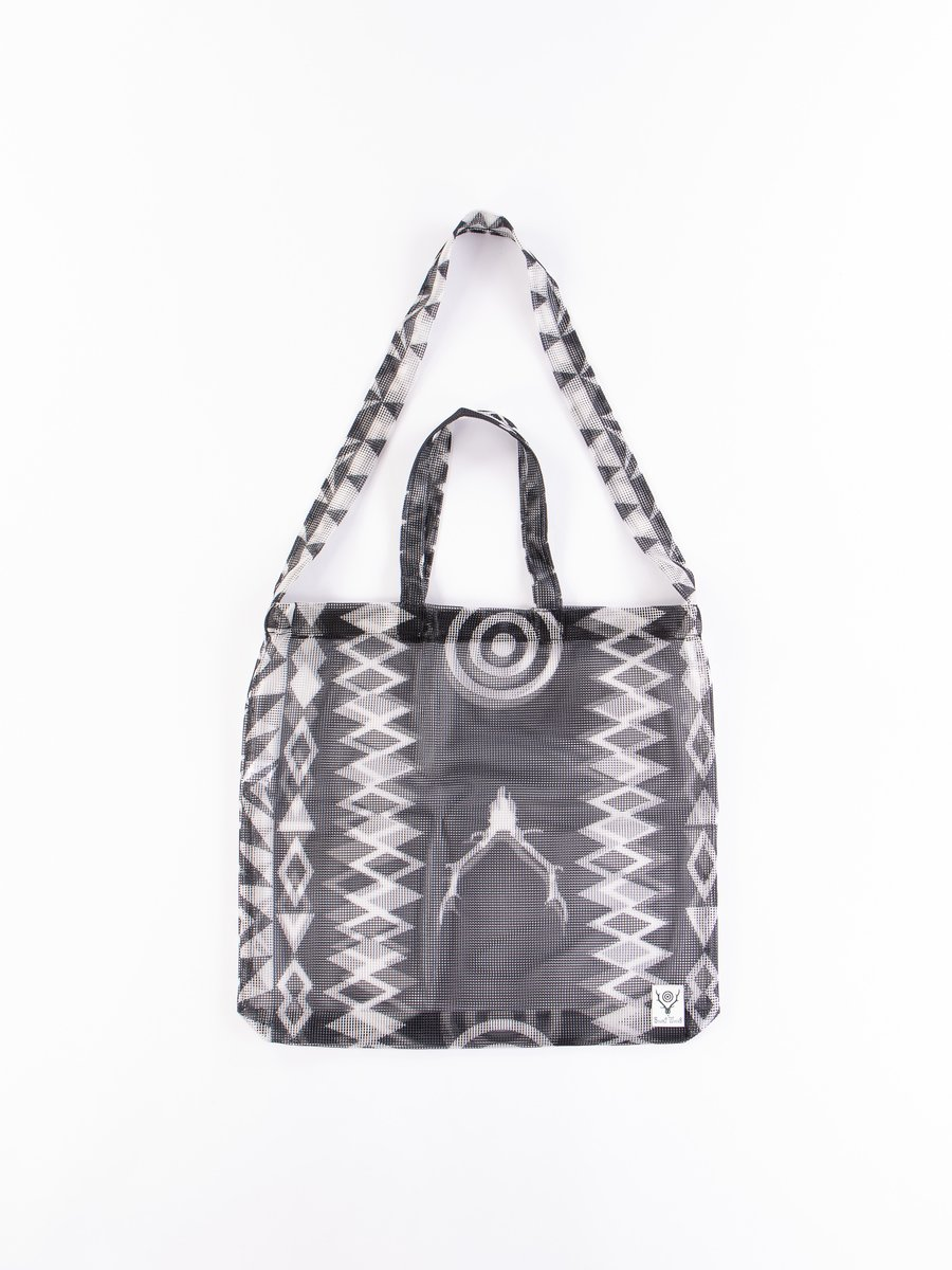 Skull and Target Poly Mesh Grocery Bag