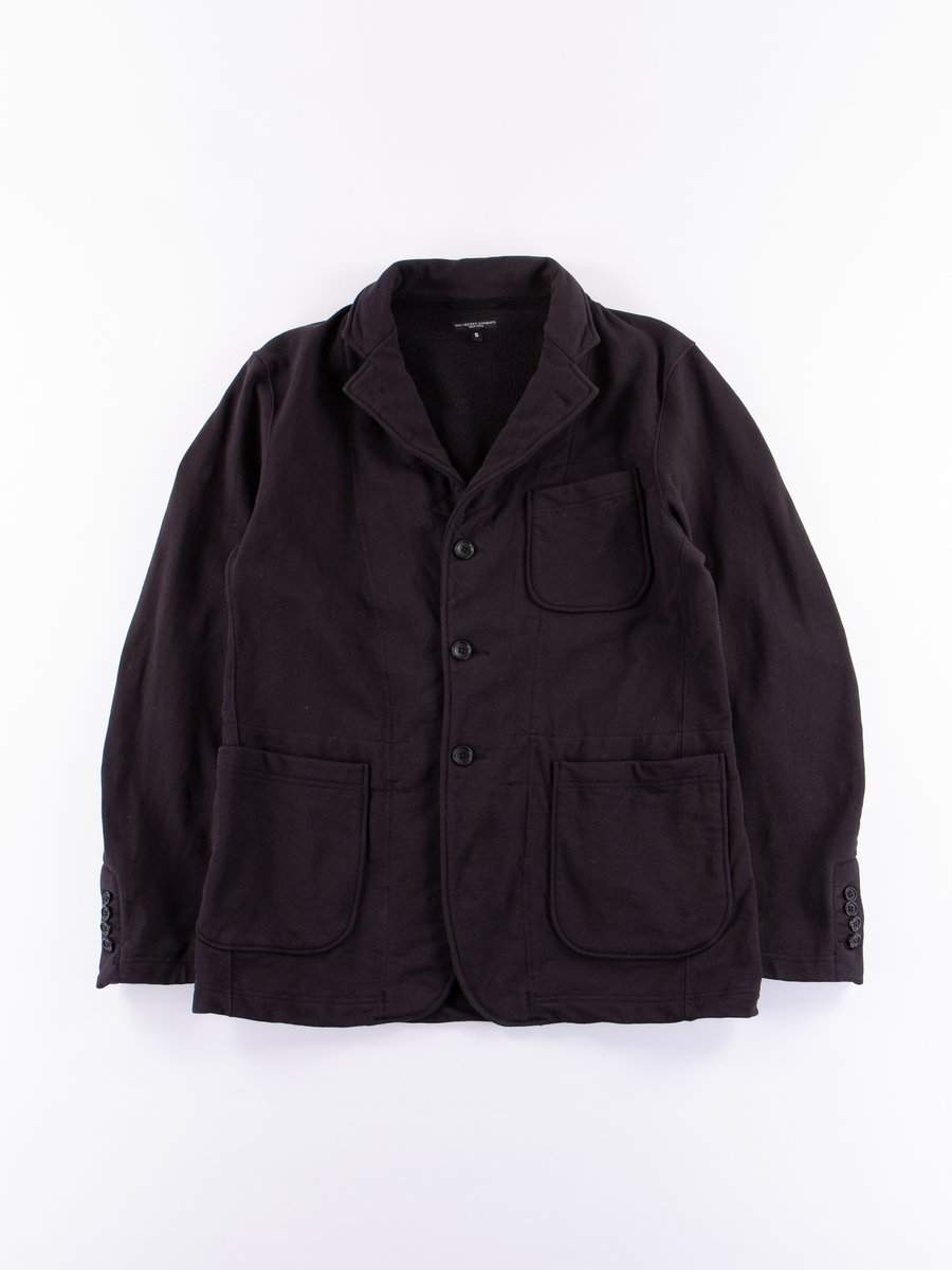 Black 20oz French Terry Knit Jacket