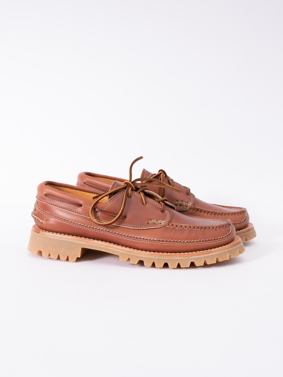 C WHISKEY DB BOAT SHOE W/ LUG SOLE EXCLUSIVE