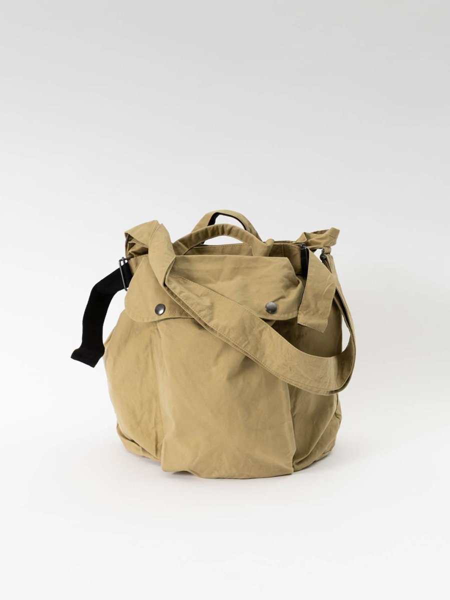 MHL ARMY SURPLUS BAG WASHED WAXED COTTON FADED OLIVE