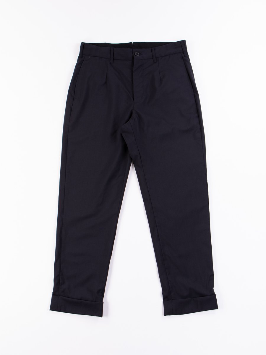 Dark Navy Tropical Wool Andover Pant