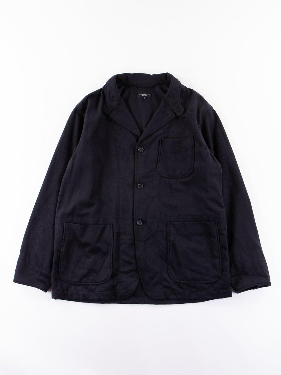 Dark Navy Wool Cotton Flannel Loiter Jacket