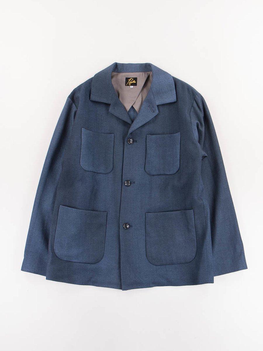 Navy Serge Wool Chore Coat