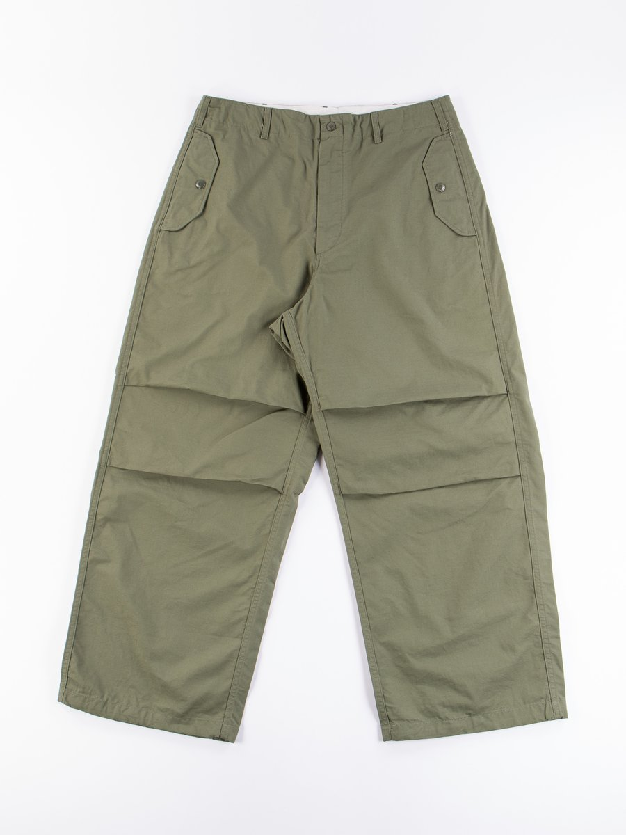 Olive Cotton Ripstop Over Pant