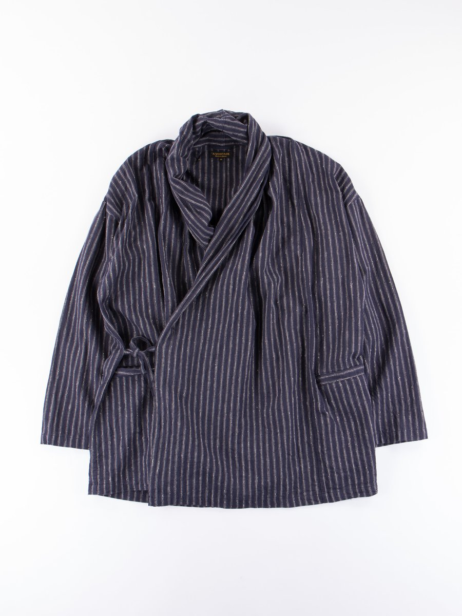 Dark Navy Stripe Robe Jacket