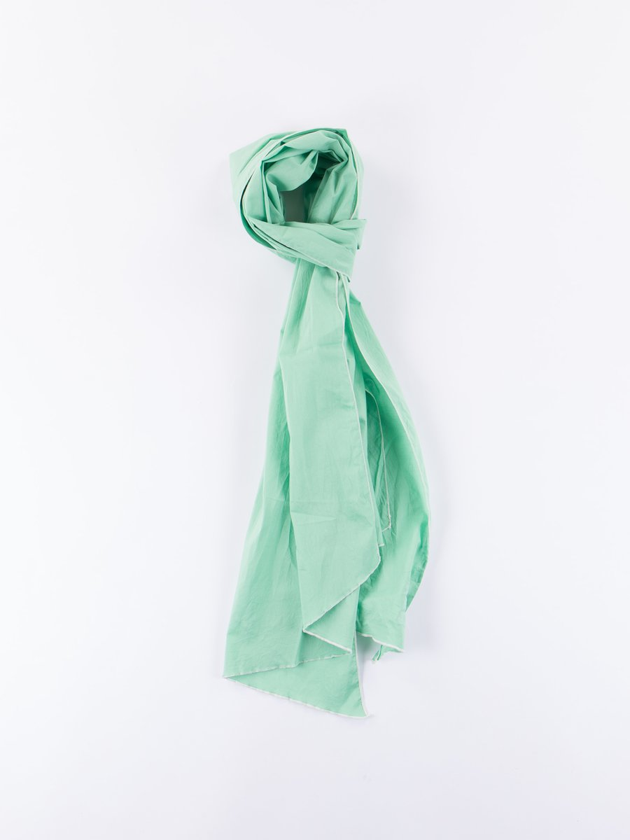 Lime Green High Count Cotton Lawn Long Scarf