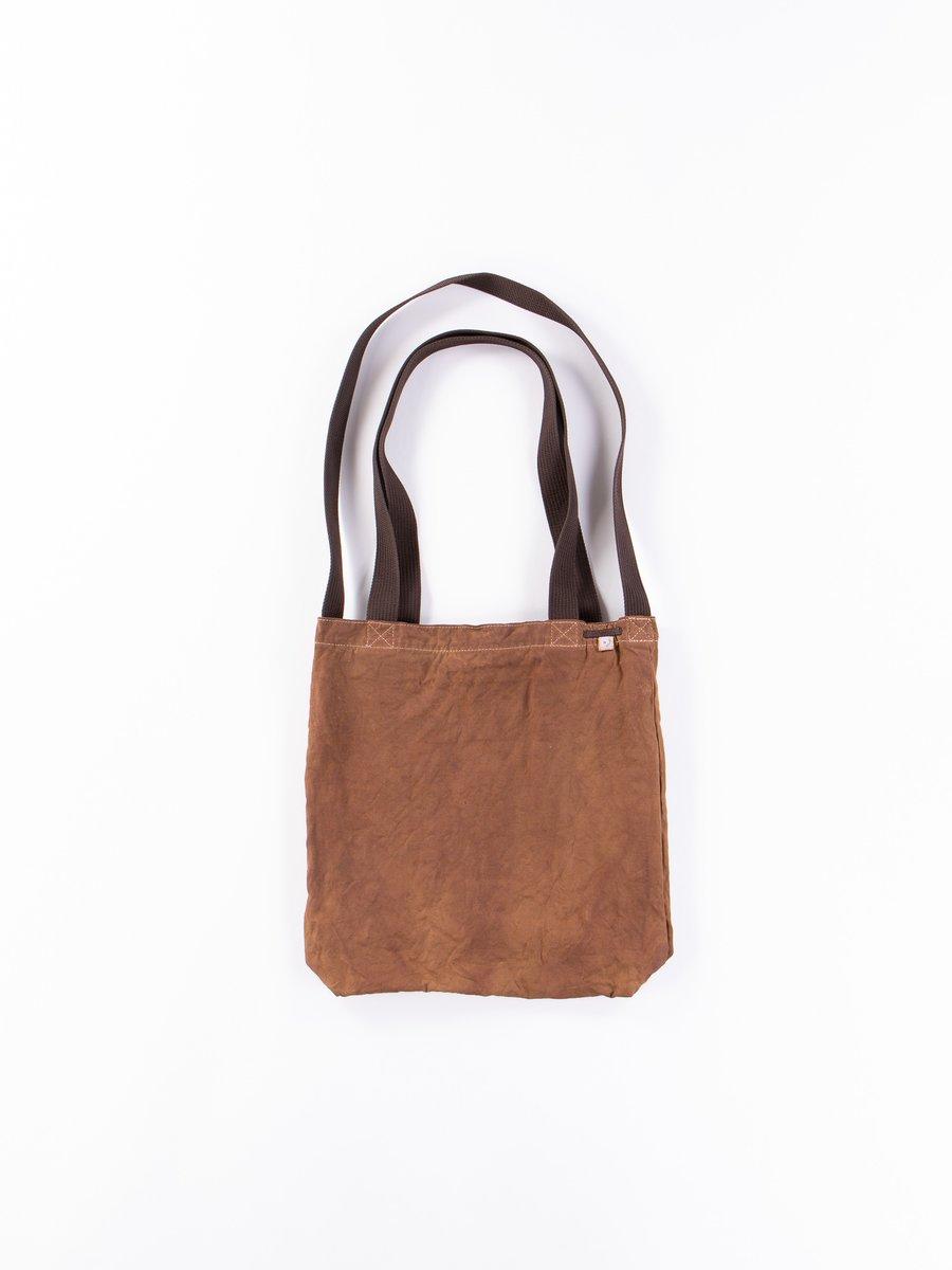 Brown Kakishibu Overdyed A4 Daily Bag Exclusive
