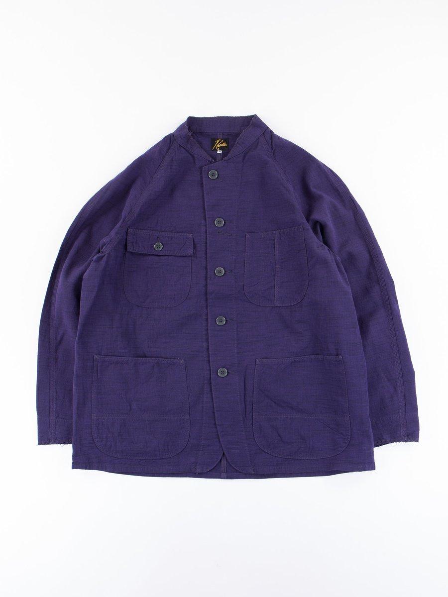 Purple Aizu–Tsumugi Chore Coat