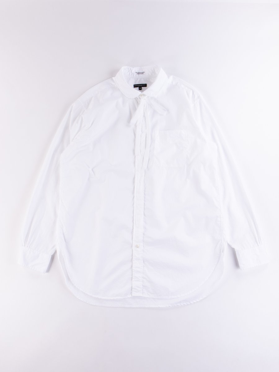 White 100's 2Ply Rounded Collar Shirt