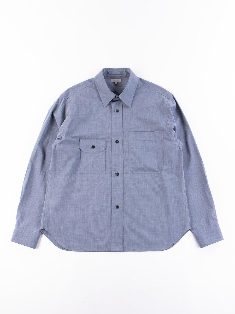 Blue End On End Odd Pocket Shirt