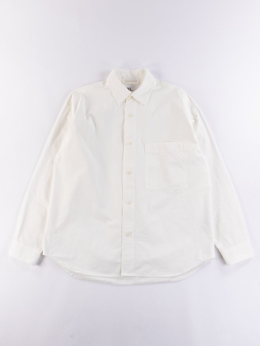 Off White Dry Cotton Poplin Oversized Shirt