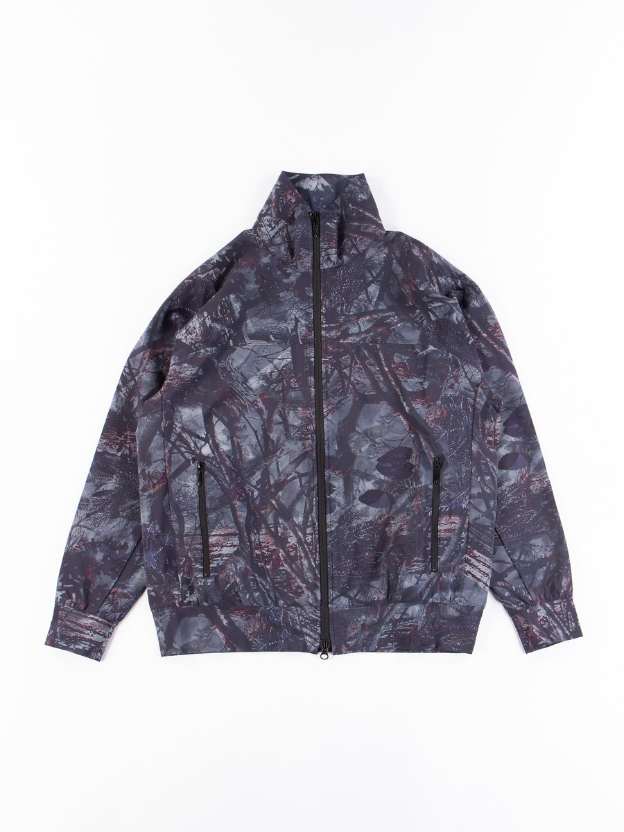 Grey Camo Taffeta Trainer Jacket
