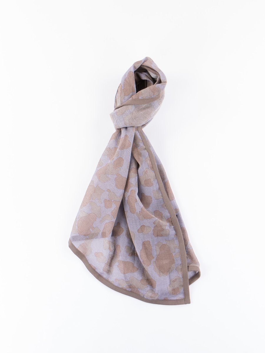 Faded Blue Camo Aertex Mesh Scrim Scarf
