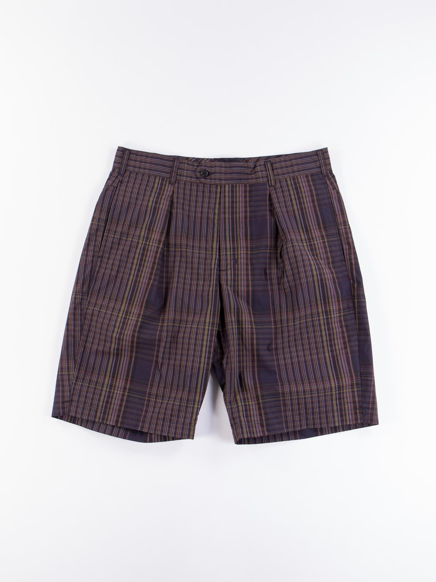 Multi Color Nyco Plaid Sunset Short