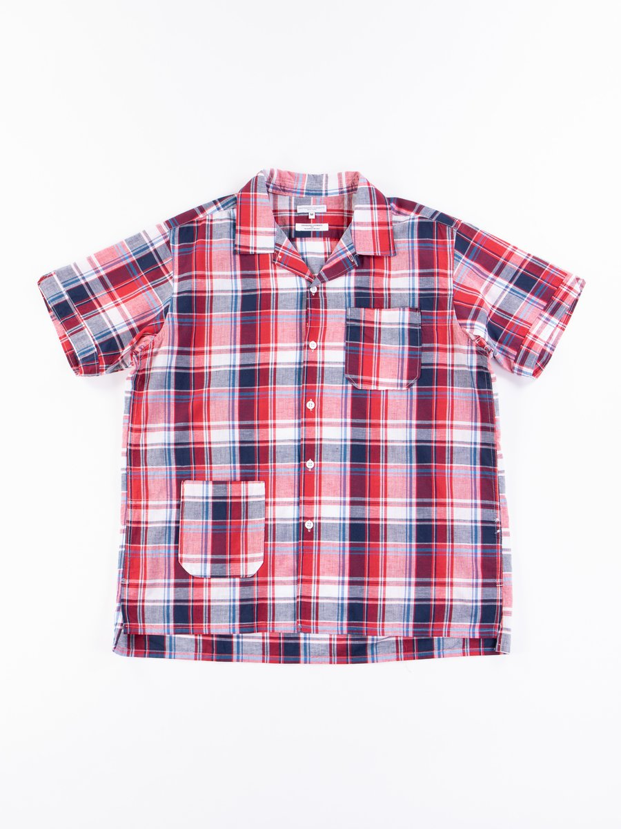 Red/Navy CL Madras Plaid Camp Shirt