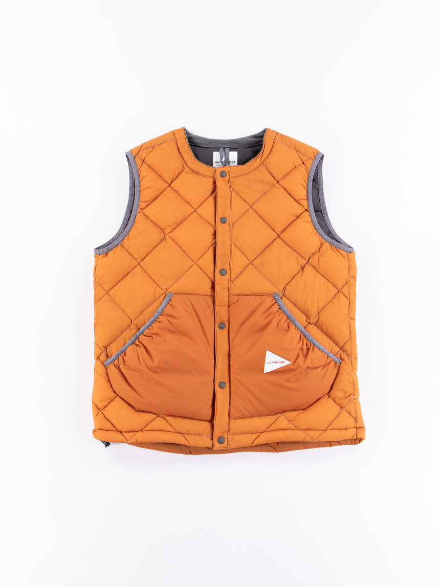 Orange Diamond Padded Vest
