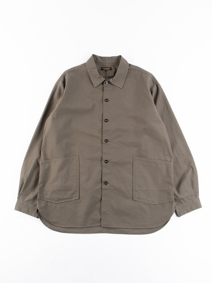 Olive Gardener Oxford Shirt Jacket