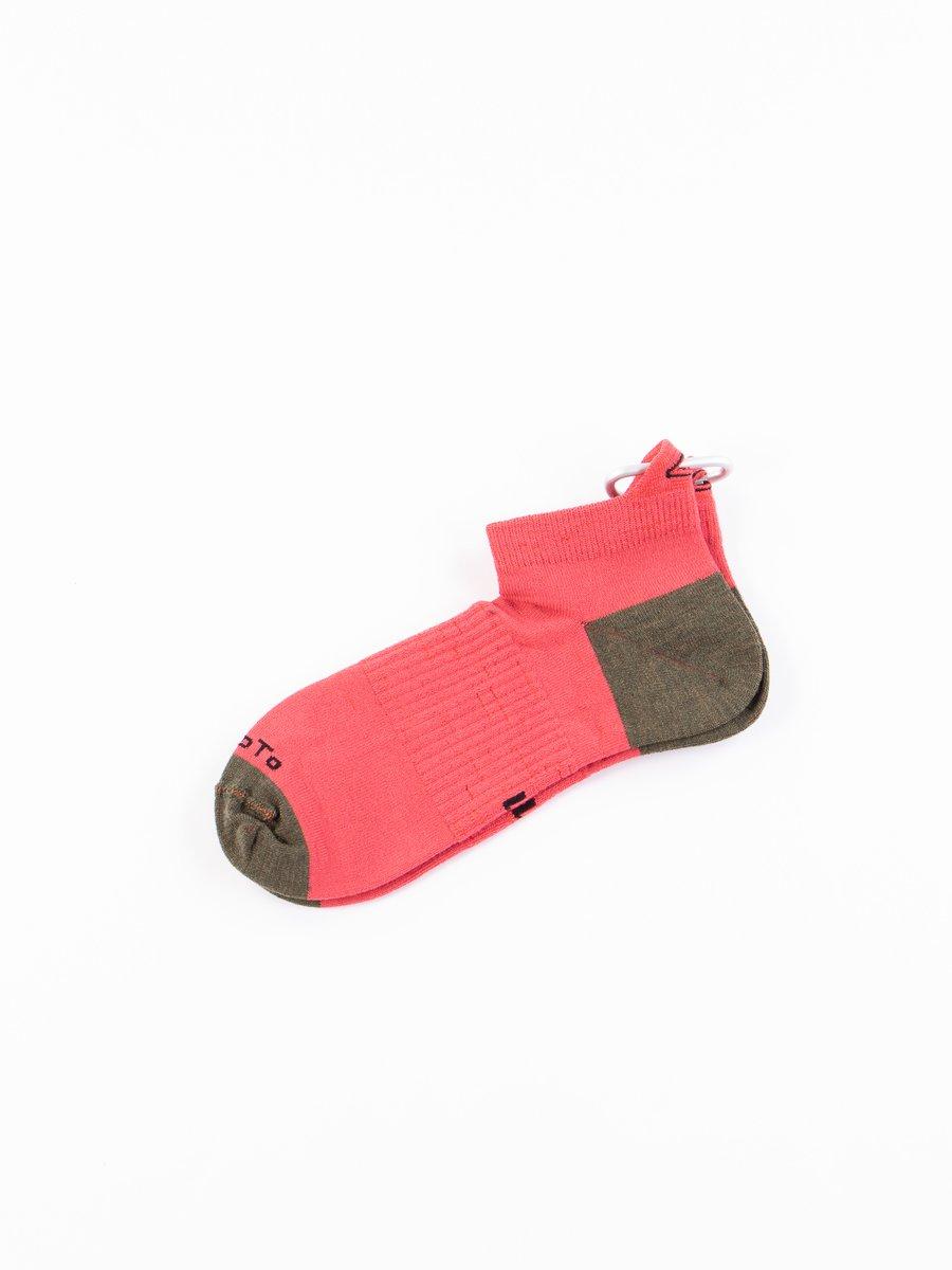 Red/Olive Hiker Trash Crew Socks