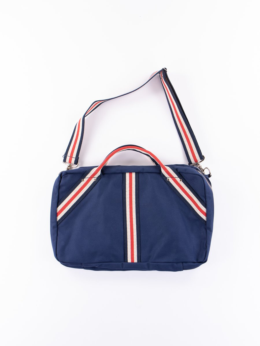 Navy Canvas Overnighter Bag