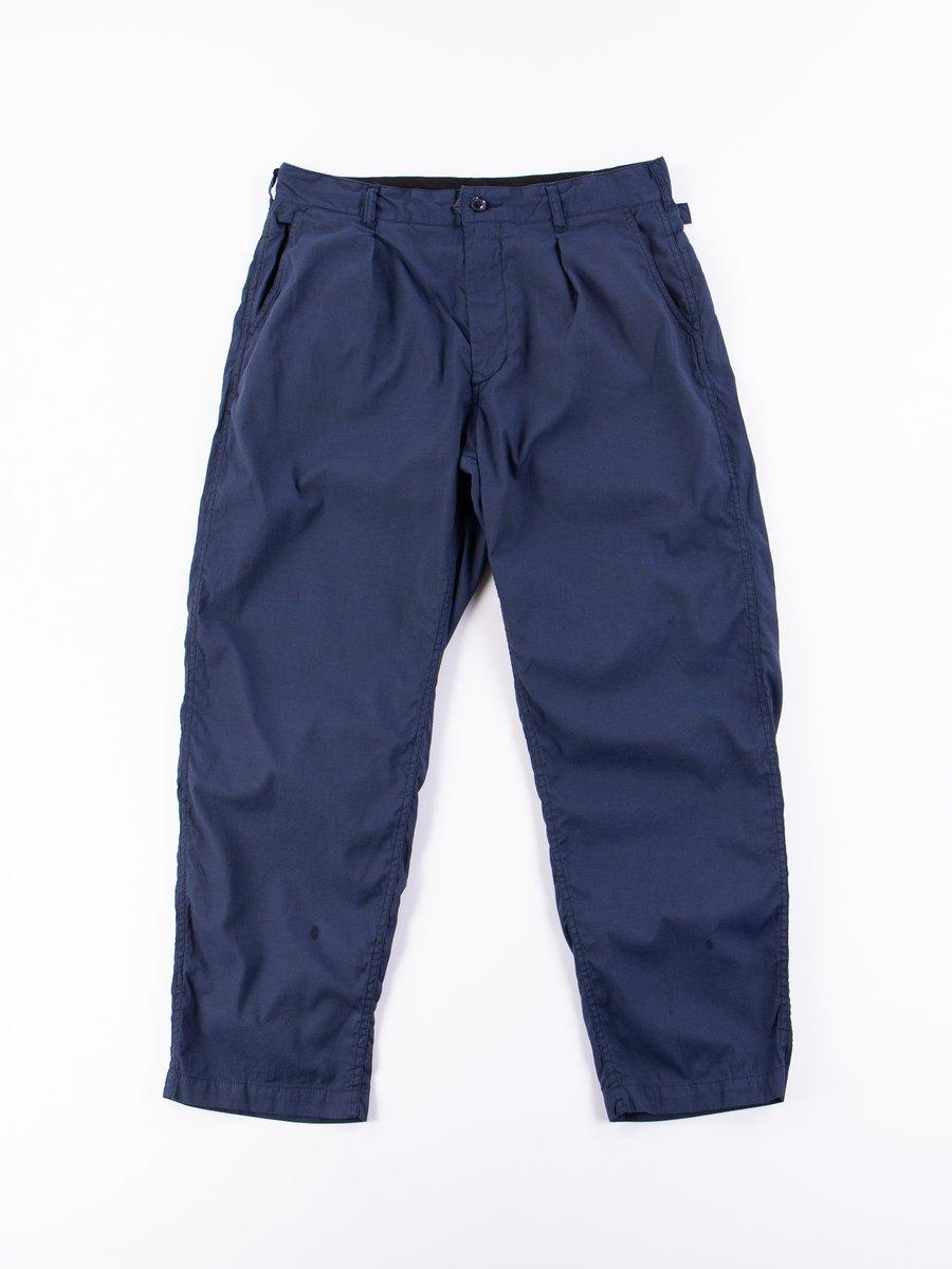 Navy Cotton Cordlane Ground Pant