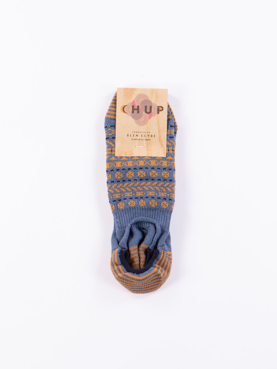 Slate Blue Ounce Trainer Socks