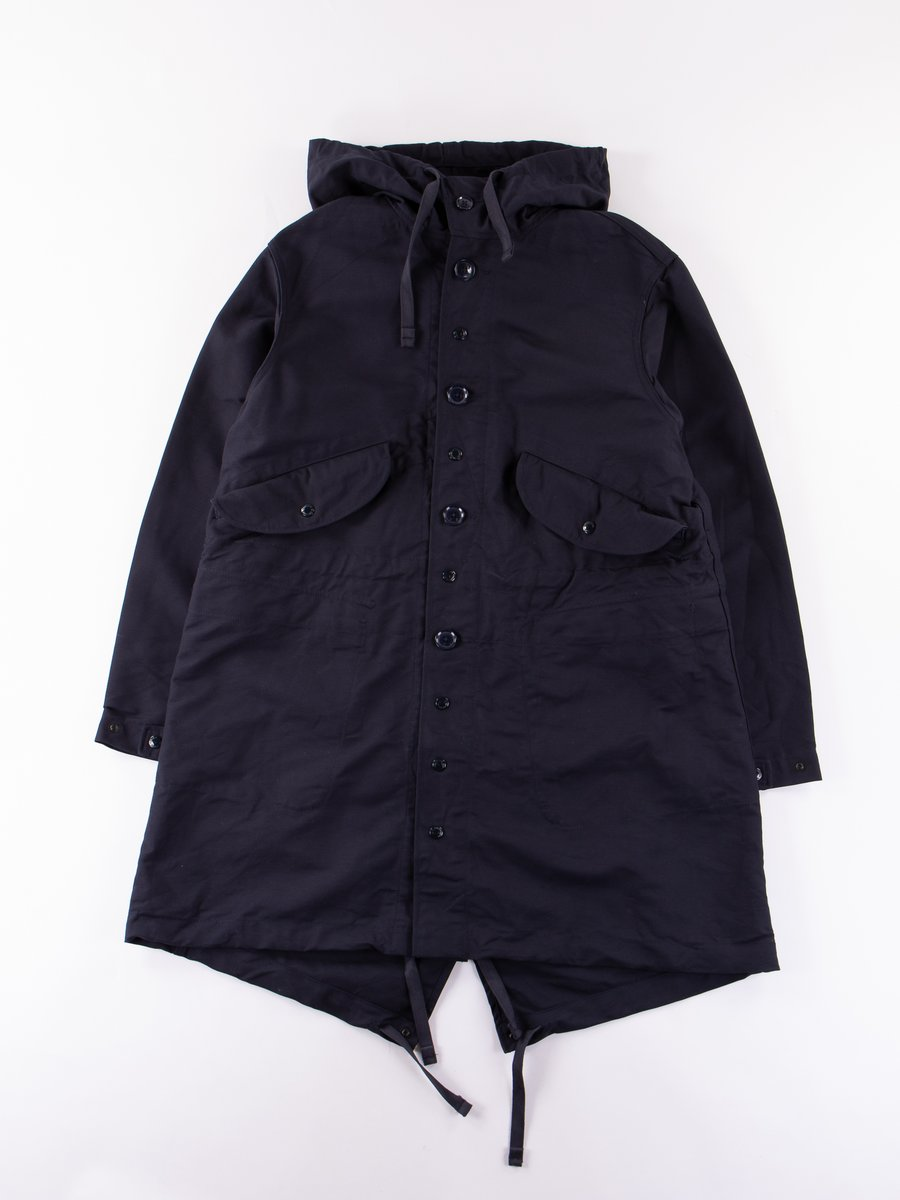 Dark Navy Cotton Double Cloth Highland Parka