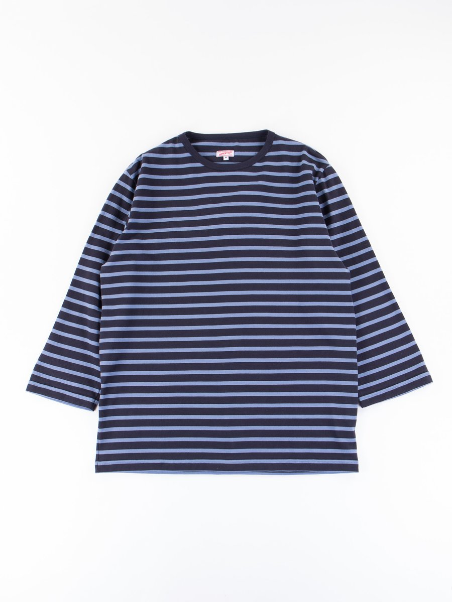 Navy/Blue Cotton Jersey Brehat Tee