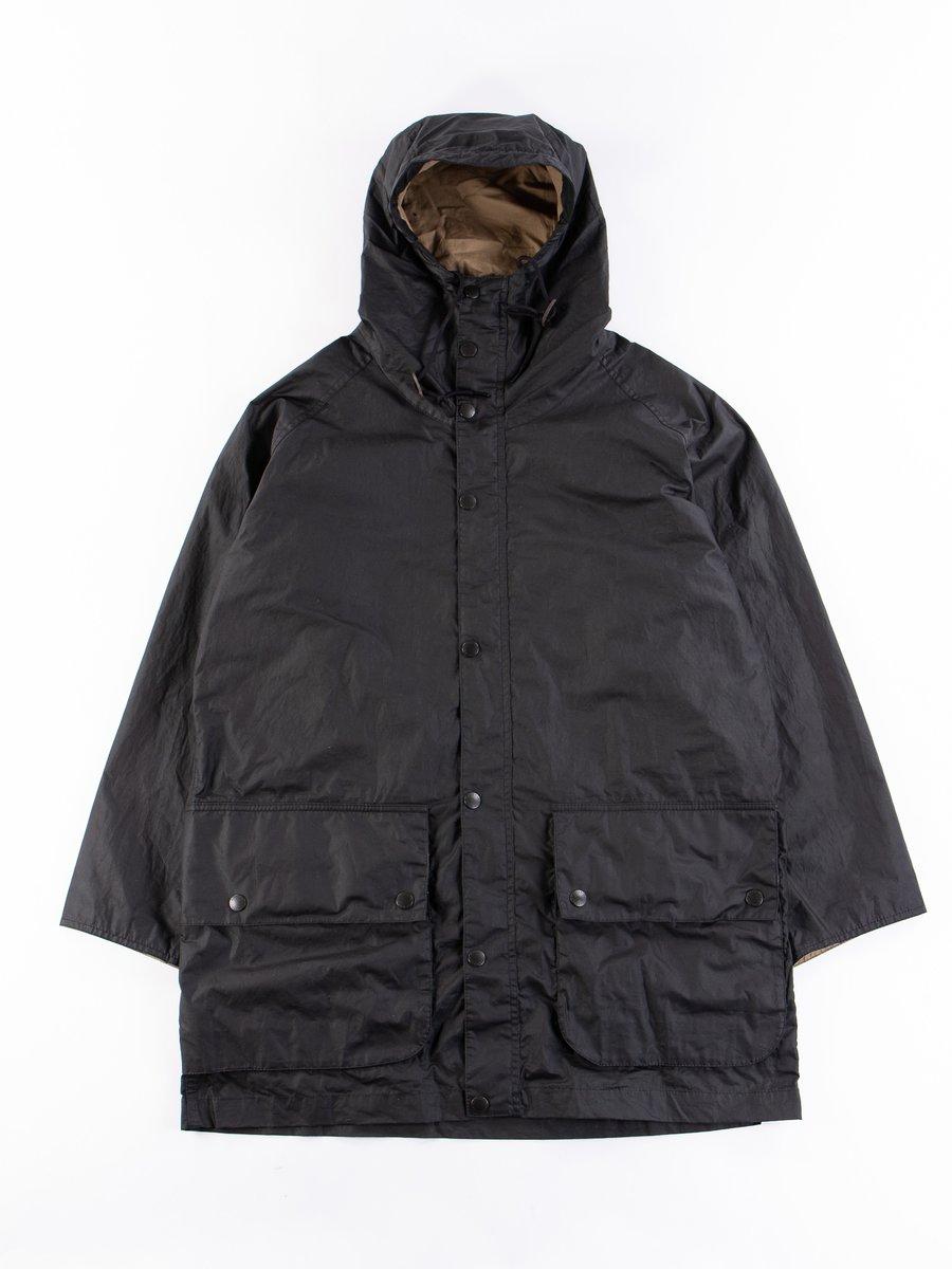 Black Hiking Waxed Cotton Jacket