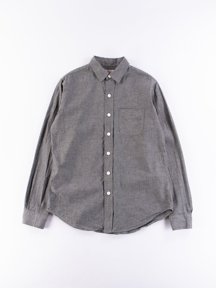Black Chambray Easy Shirt