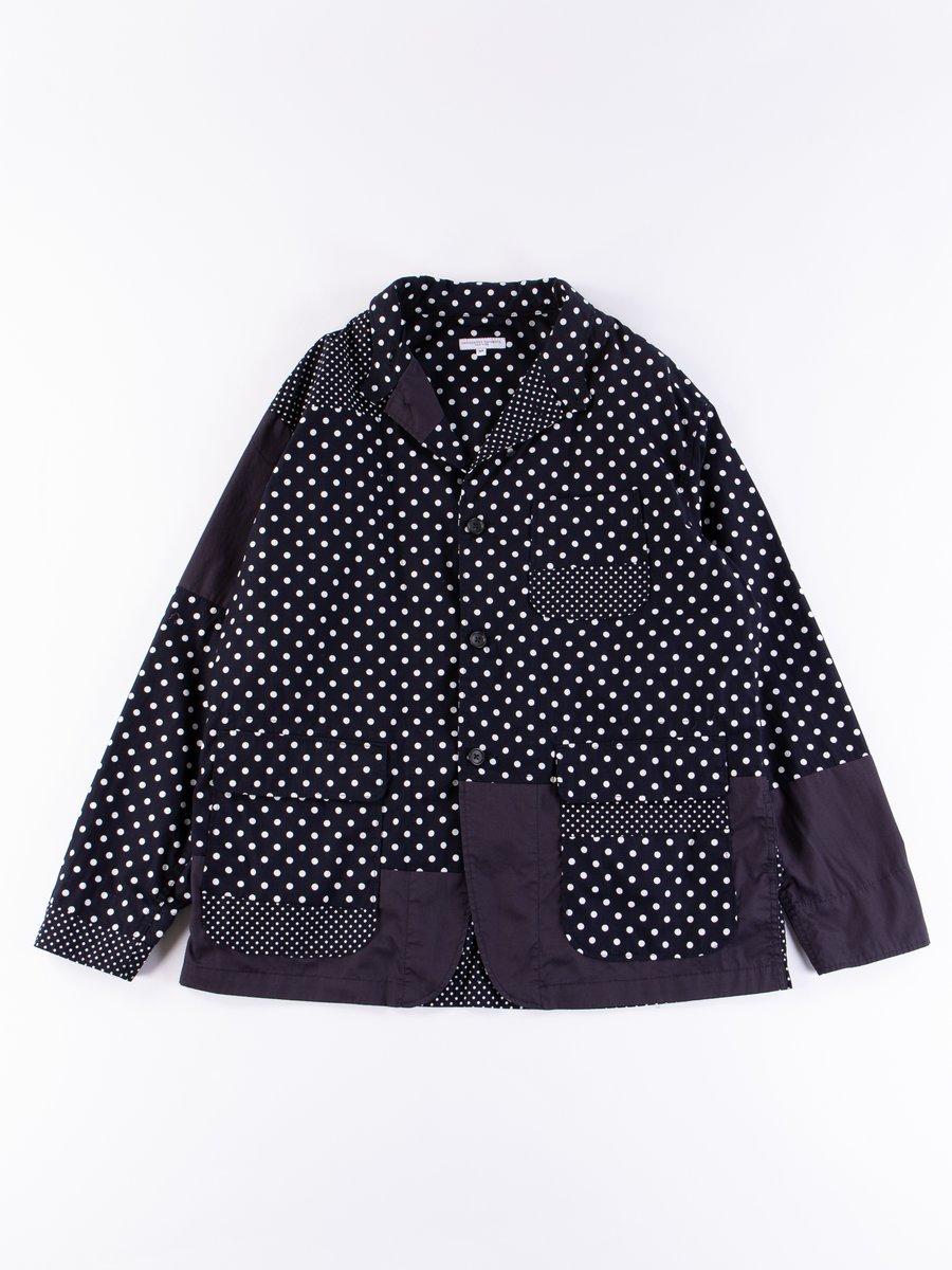 Dark Navy Big Polka Dot Broadcloth Loiter Jacket