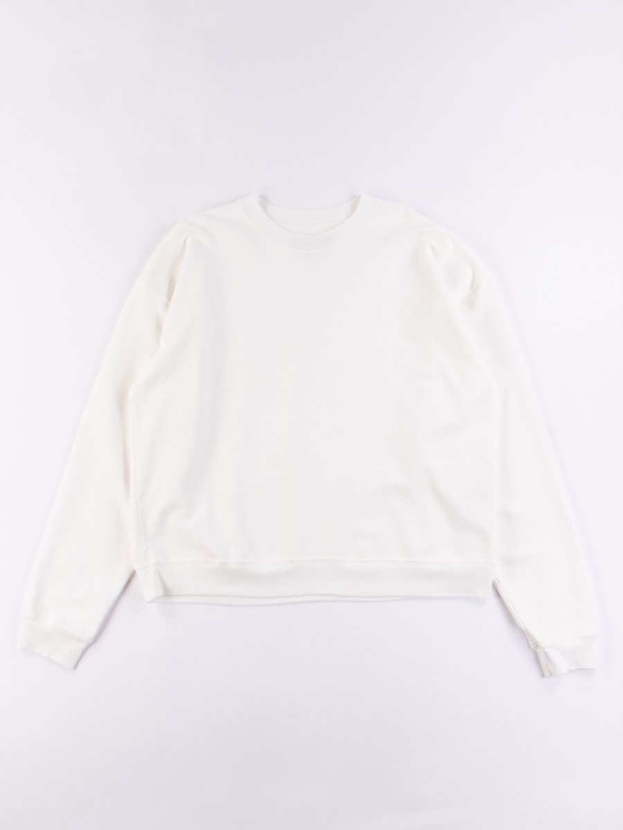 Cream Cropped Crewneck Sweatshirt