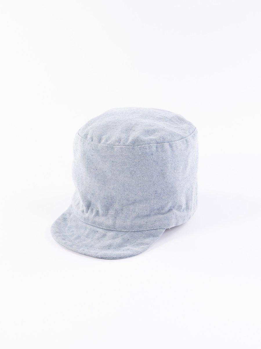 Blue Upcycled Denim FM Cap