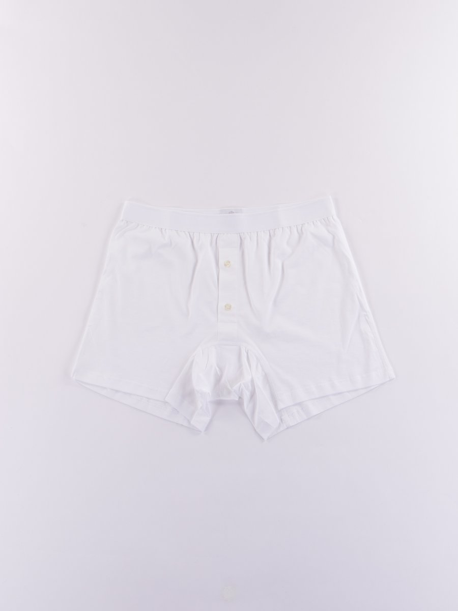 White Superfine Two Button Short