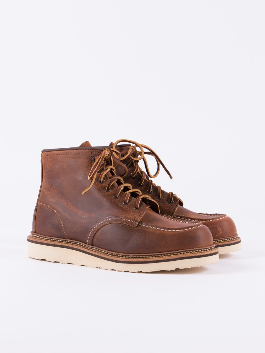 "Copper 1907 Heritage 6"" Moc Toe Boot"