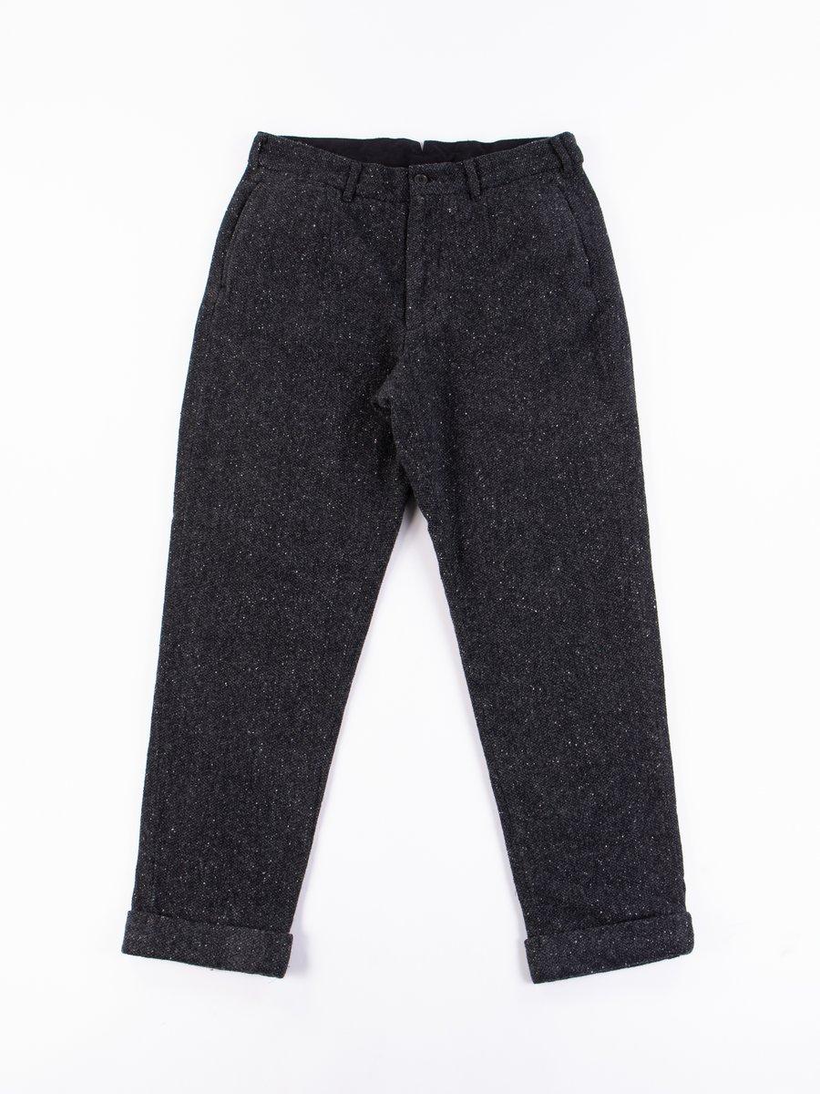 Black Donegal Tweed Andover Pant