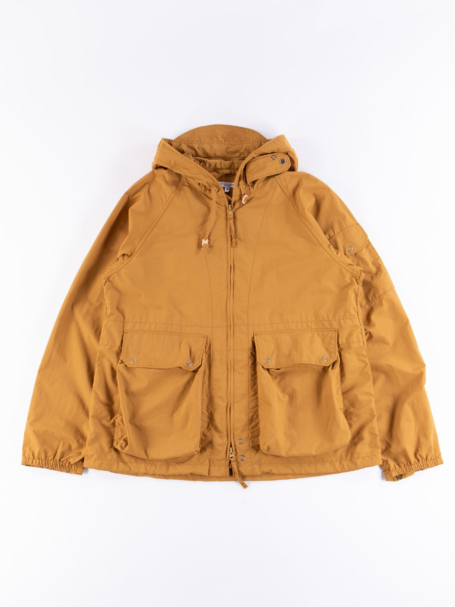 Mustard Acrylic Coated Nylon Taffeta Atlantic Parka