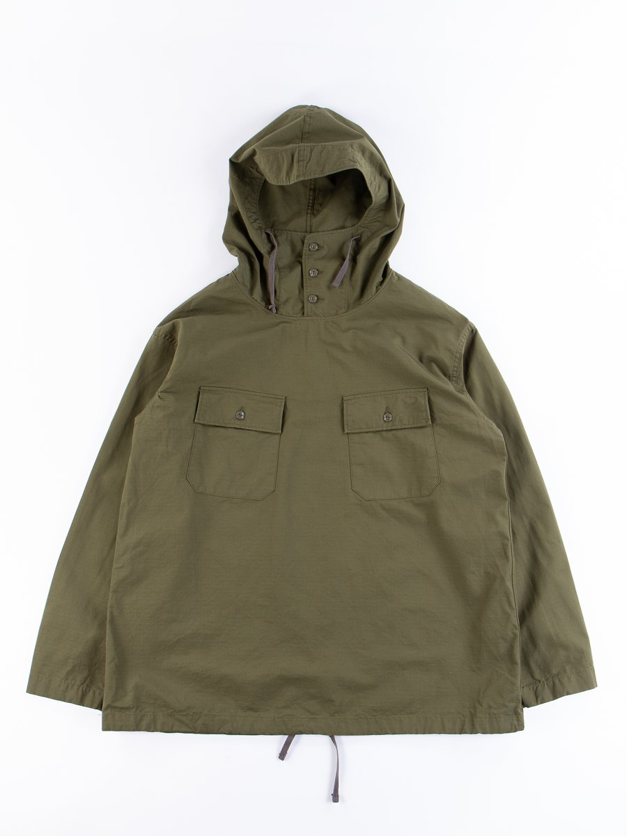 Olive Drab Cotton Ripstop Cagoule Shirt