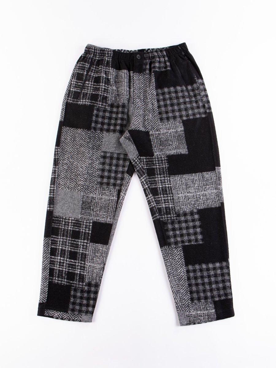 Black/Grey Knit Patchwork Jog Pant