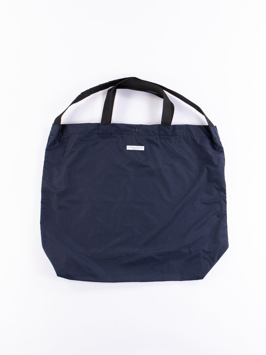 Navy Acrylic Coated Nylon Taffeta Carry All Tote