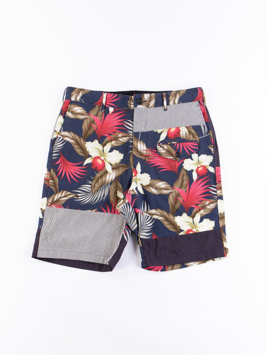 Navy Hawaiian Floral Java Cloth Ghurka Short