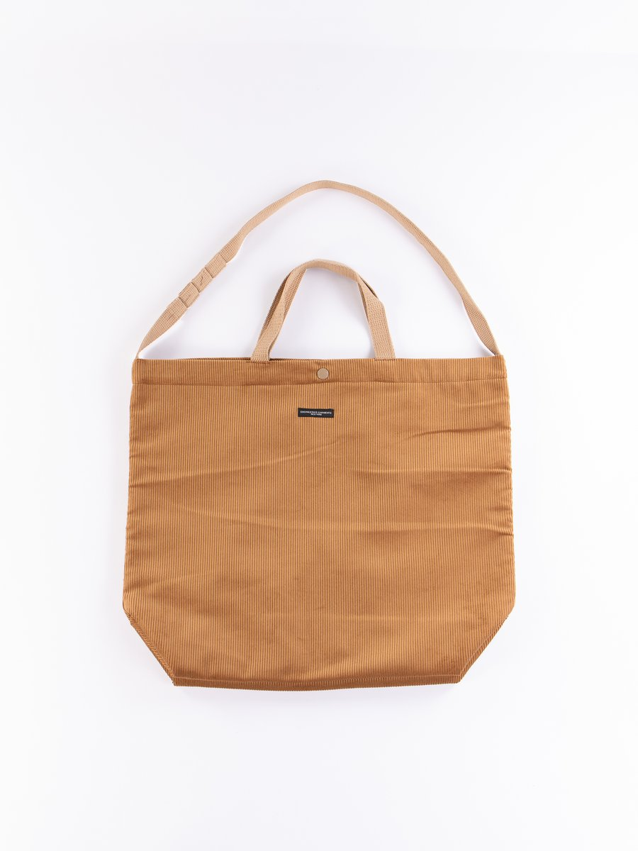 Chestnut Cotton 8W Corduroy Carry All Tote