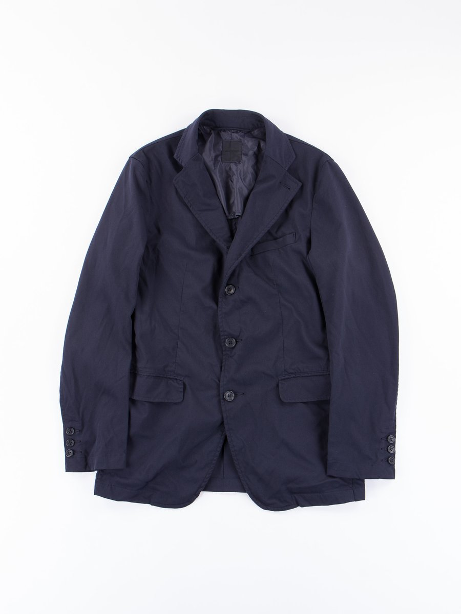 Navy Poly 3 Button Jacket