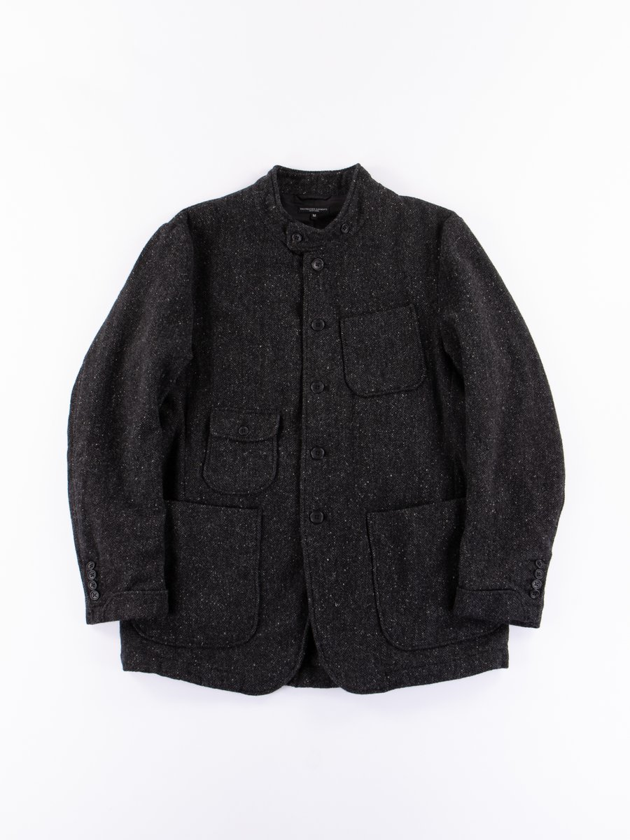 Charcoal HB Tweed Grim Jacket
