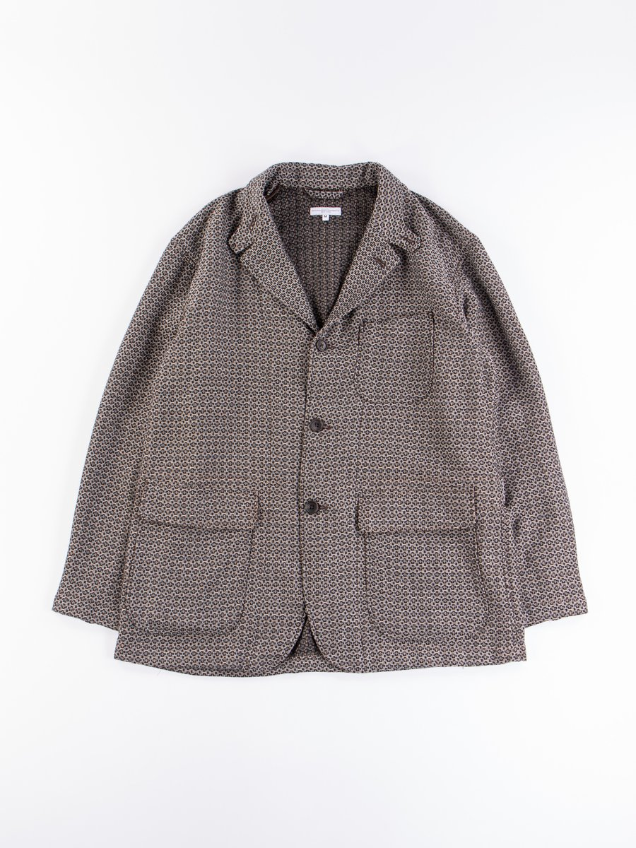 Brown Basketweave Cross Dobby Loiter Jacket