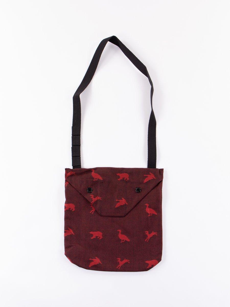 Black/Red Game Animal Jacquard Shoulder Pouch