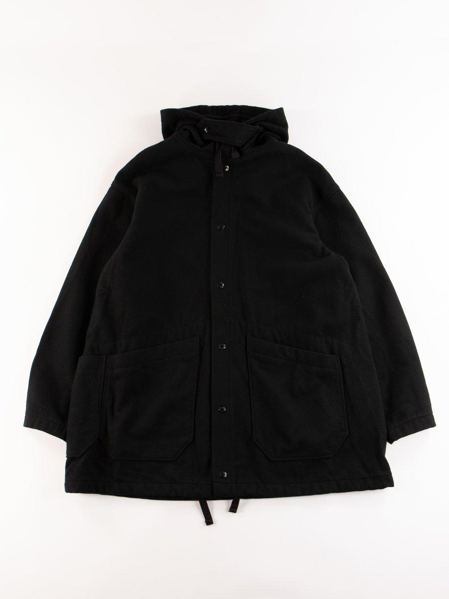 Black 20oz Wool Melton Madison Parka
