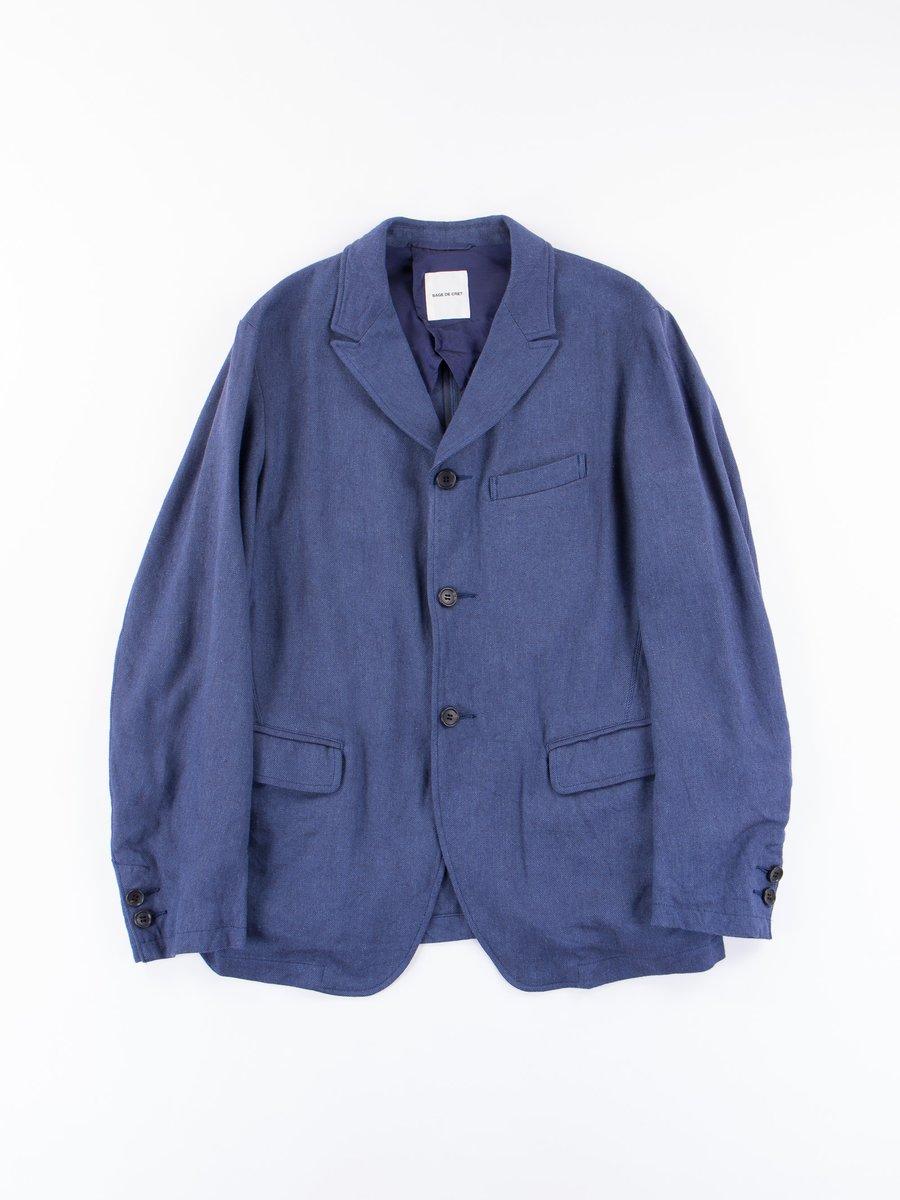 Blue Peaked Lapel Jacket
