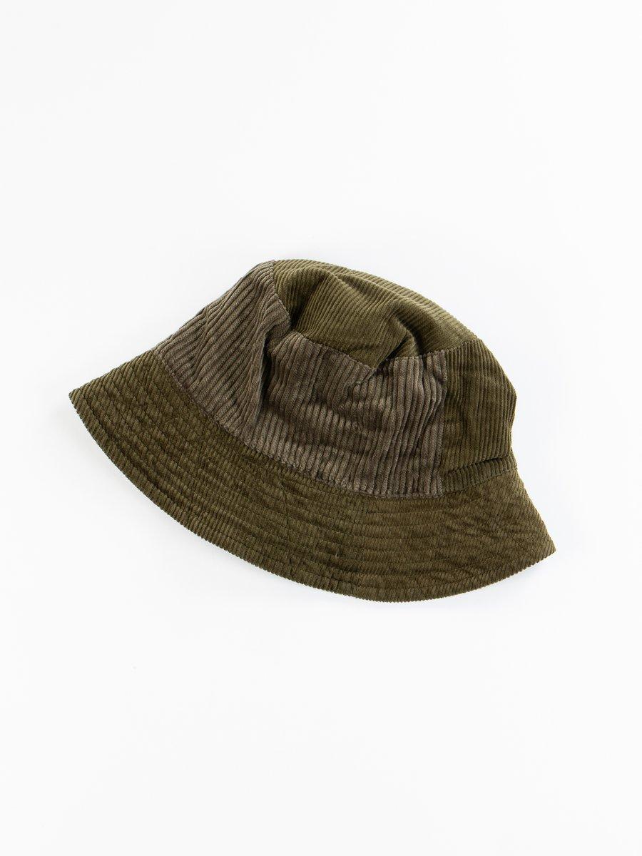 Olive Cotton 8W Corduroy Bucket Hat