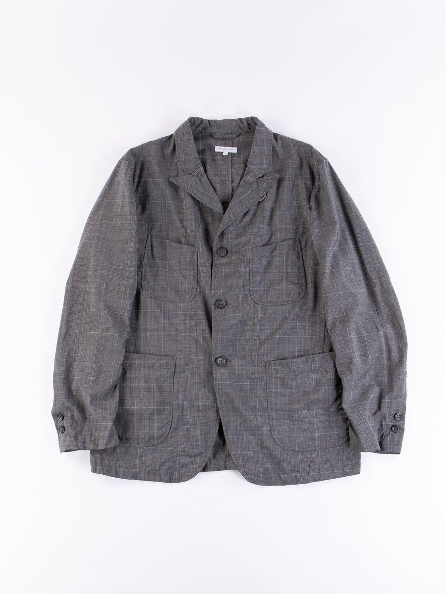 Grey Glen Plaid Tropical Wool NB Jacket
