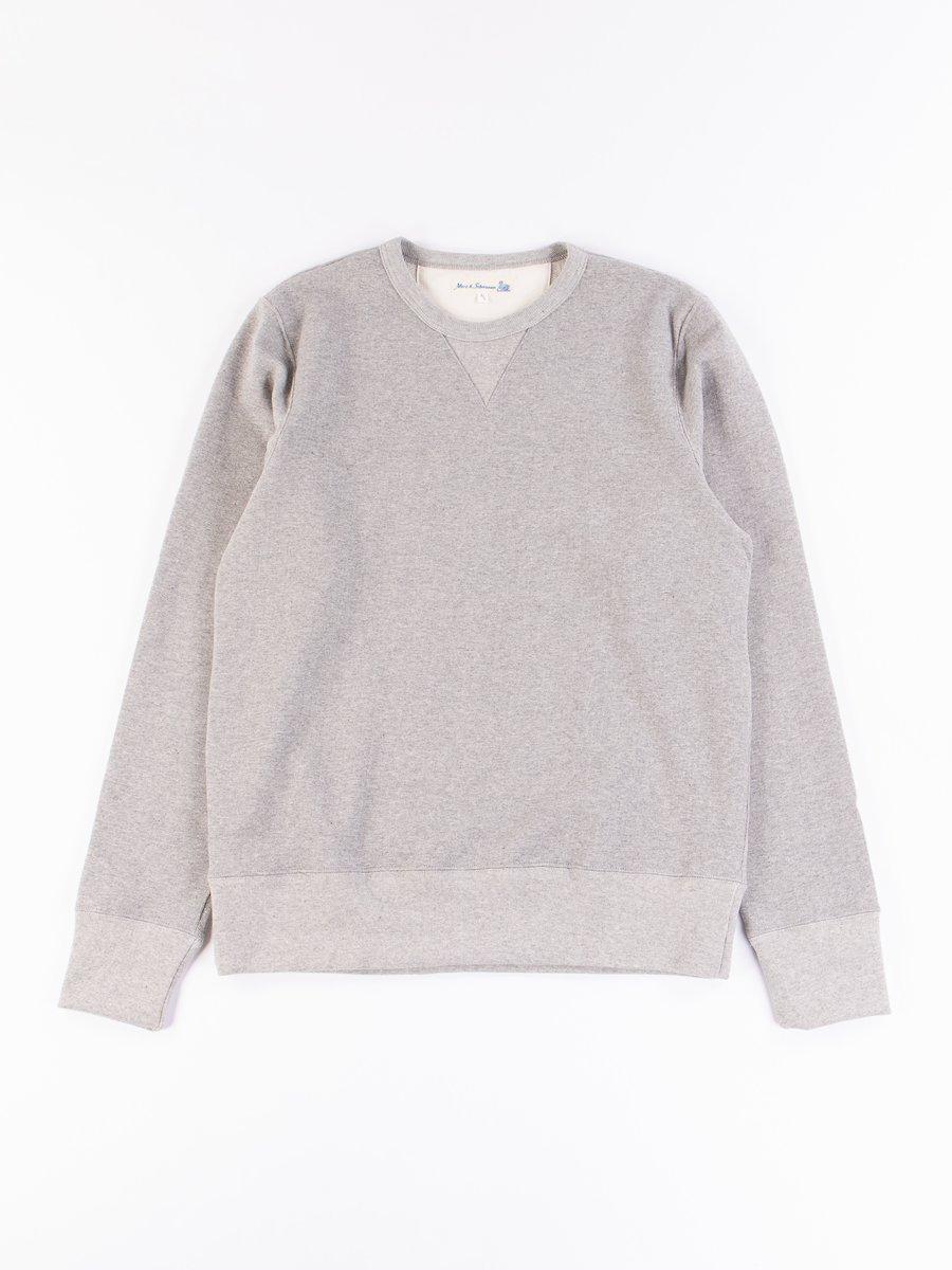 Grey Melange 3S48 Organic Cotton Heavy Sweater